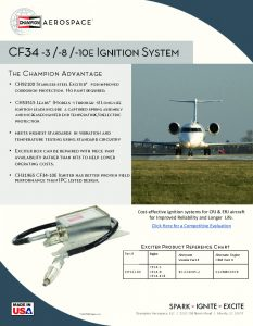 thumbnail of Data Sheet CF34-3 and -8 Ignition System Mar 2017