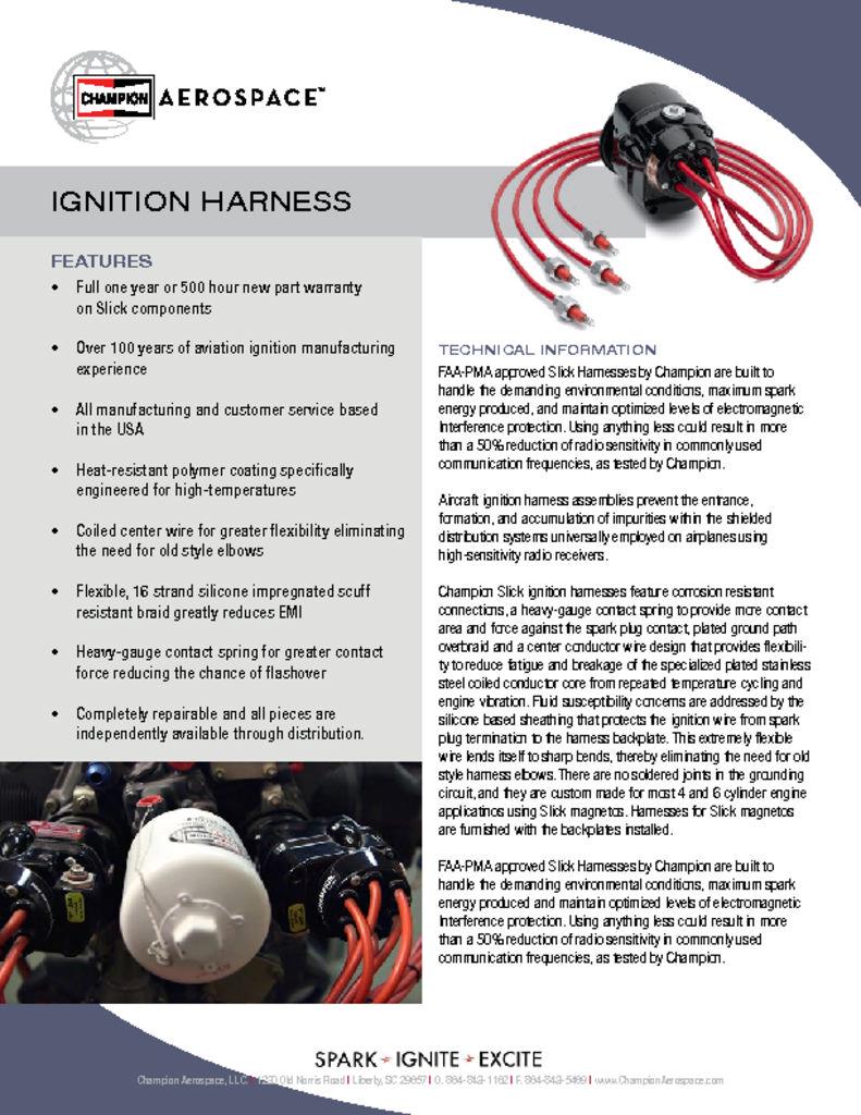 Ignition Harness - Champion Aerospace