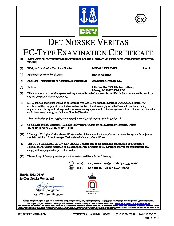 EC-Type Certificate